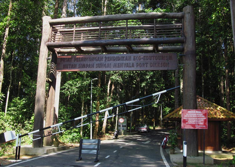 Sungai Menyala entrance