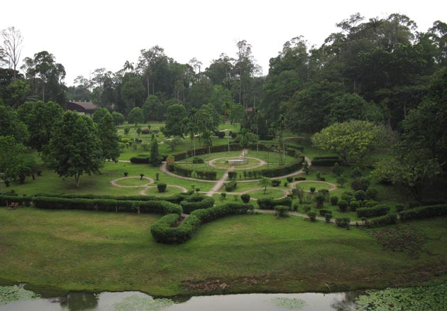View of a garden at TBNSA