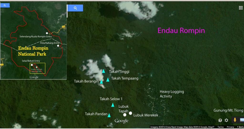 Endau Rompin map
