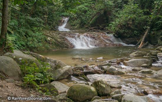 waterfall along sungai batang penar